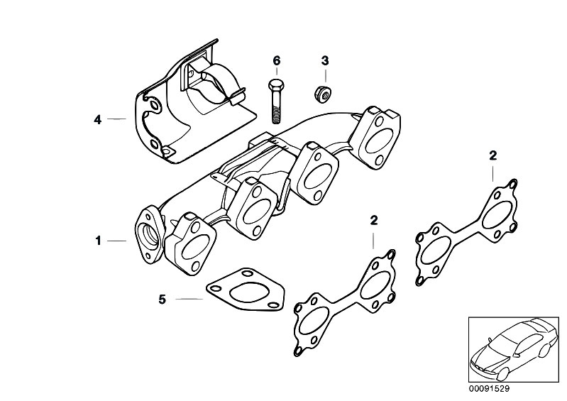 original parts for e46 320d m47n touring    engine   exhaust