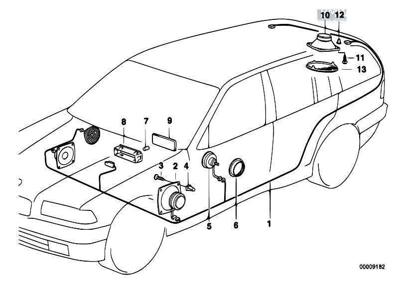 original parts for e36 318i m43 touring    audio navigation