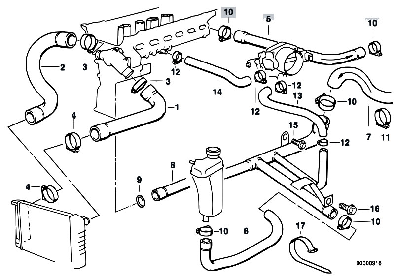 original parts for e36 320i m50 cabrio / engine/ cooling ... bmw 323is engine diagram 1997 bmw 318ti engine diagram