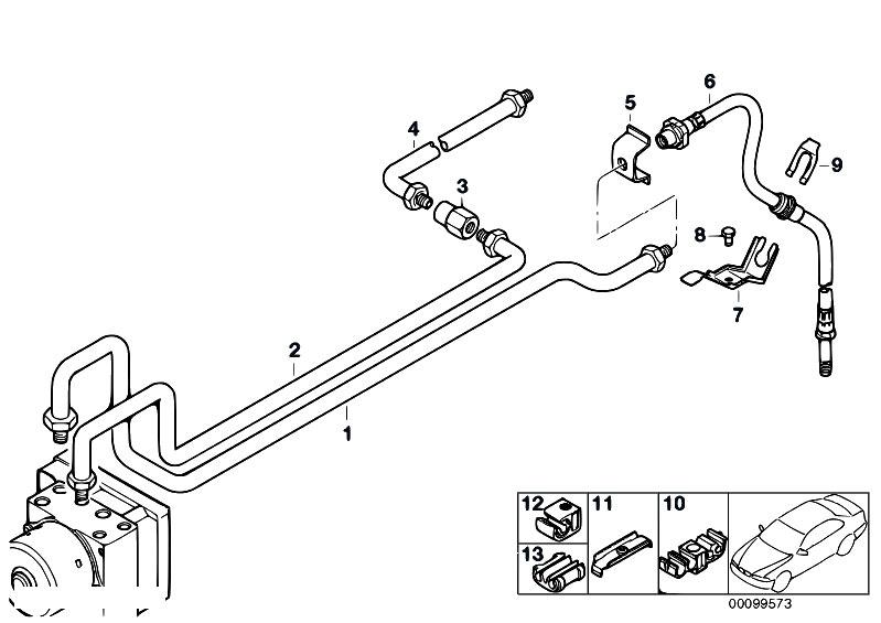 Original Parts For E46 M3 S54 Coupe    Brakes   Rear Brake