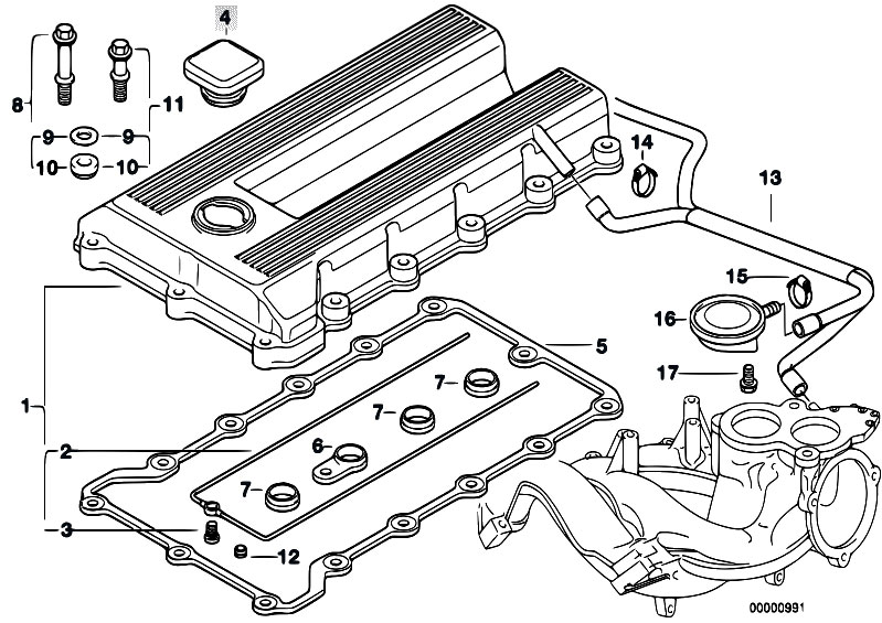 Original Parts For E36 318ti M44 Pact Engine Cylinder Head Rhestorecentral: Bmw M44 Engine Diagram At Gmaili.net