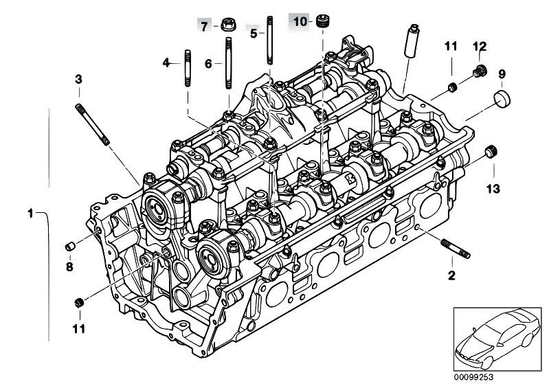 Original Parts For E60 540i N62n Sedan    Engine   Cylinder