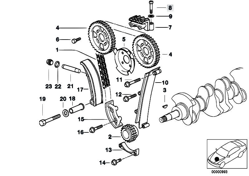 original parts for e36 318ti m44 compact    engine   timing