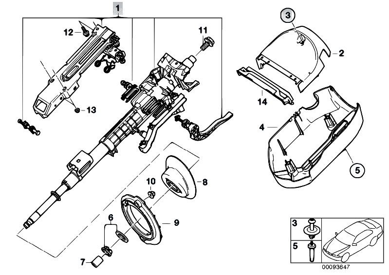 Service Manual Remove 2003 Bmw 7 Series Steering Column