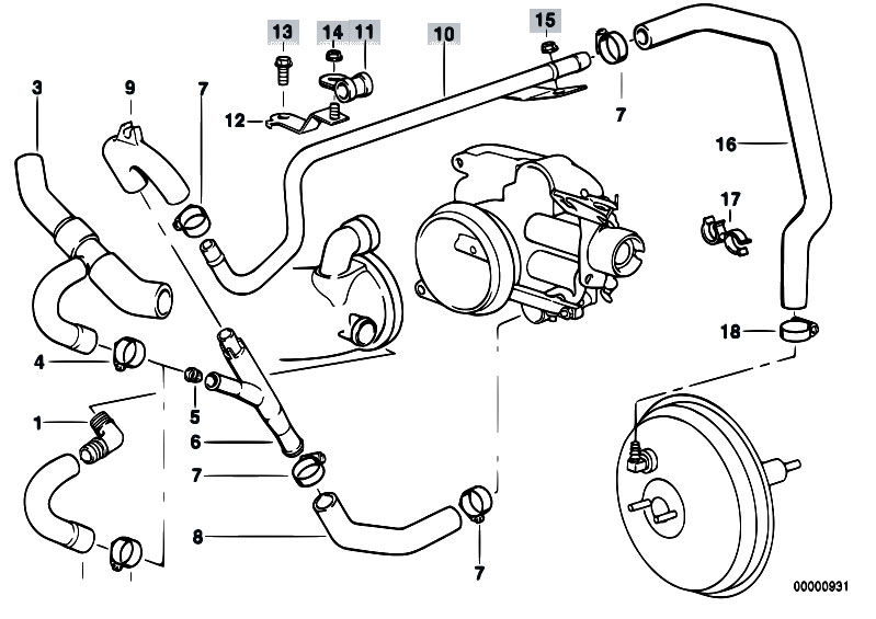 original parts for e38 735i m62 sedan / engine/ vacuum ... bmw 735i engine diagram #11