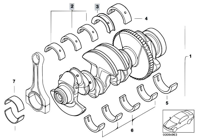 Original Parts For E46 318ci N46 Cabrio Engine Crankshaft With
