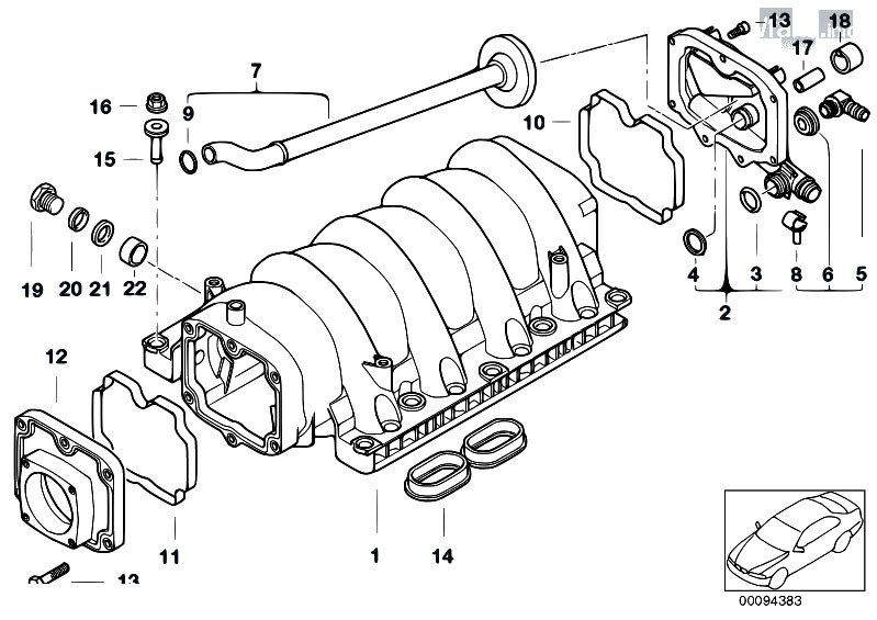 original parts for e53 x5 4 6is m62 sav    engine   intake