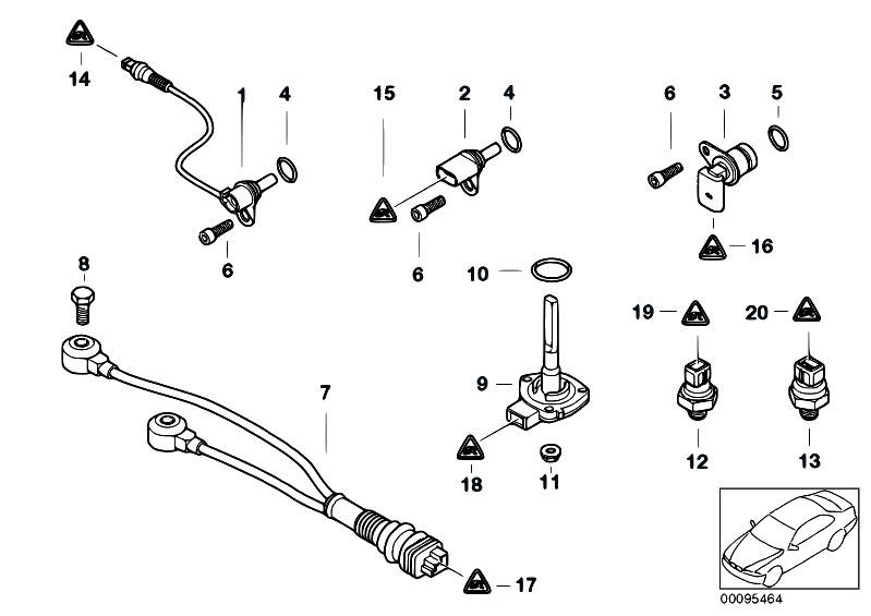 original parts for e60 m5 s85 sedan    engine electrical system   sensors