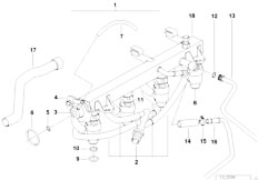 E36 318ti M44 Compact / Fuel Preparation System Fuel Injection System Injection Valve
