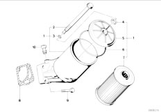 E34 535i M30 Sedan / Engine Lubrication System Oil Filter