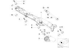 E39 520i M52 Sedan / Vehicle Electrical System/  Single Wiper Parts