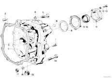 E30 318i M10 4 doors / Manual Transmission/  Getrag 242 Cover Attach Parts