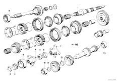 E30 318i M10 4 doors / Manual Transmission/  Getrag 242 Gear Wheel Set Parts Rep Kits