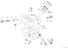 E30 318i M10 4 doors / Manual Transmission/  Getrag 242 Inner Gear Shift Speedom Dri