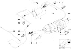 E46 323Ci M52 Coupe / Exhaust System Rear Silencer With Exhaust Flap