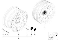 E38 750iL M73N Sedan / Wheels/  Bmw Light Alloy Wheel Ellips Styl 60