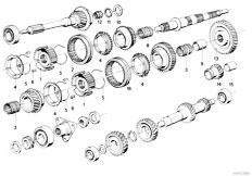 E30 318i M10 4 doors / Manual Transmission/  Getrag 242 Gear Wheel Set Single Parts