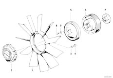 E34 535i M30 Sedan / Engine Cooling System Fan Fan Coupling