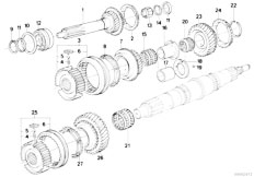 E30 318i M10 4 doors / Manual Transmission/  Getrag 240 Gear Wheel Set Single Parts