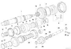 E30 318i M10 4 doors / Manual Transmission/  Getrag 240 Gear Wheel Set Single Parts-2