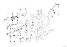 E30 318i M10 4 doors / Manual Transmission/  Getrag 240 Inner Gear Shifting Parts