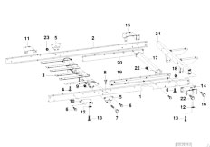 E46 330xd M57 Sedan / Universal Accessories Trailer Individual Parts Chassis Frame