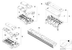 E39 520i M52 Sedan / Vehicle Electrical System/  Single Components For Fuse Box-2