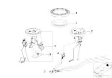 E36 325i M50 Cabrio / Fuel Supply Fuel Pump And Fuel Level Sensor-2