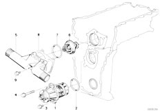 E30 318is M42 2 doors / Engine/  Waterpump Thermostat