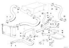 E30 318is M42 2 doors / Engine/  Cooling System Water Hoses-2