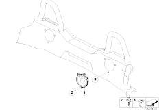 E85 Z4 2.0i N46 Roadster / Audio Navigation Electronic Systems Loudspeaker Rear Stereo System