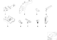 E38 L7 M73N Sedan / Engine Electrical System Cable Holder Covering