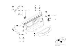 E38 740i M62 Sedan / Vehicle Trim/  Door Trim Panel Rear Side Airbag