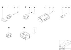 E39 520i M52 Sedan / Vehicle Electrical System/  Various Plugs According To Application