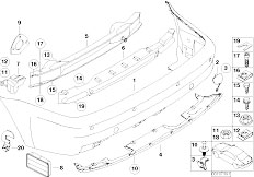 E46 M3 S54 Coupe / Vehicle Trim/  M Rear Bumper Trim-2