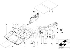 E38 740iL M62 Sedan / Vehicle Trim/  Sound Insulating Front