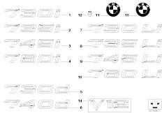 E65 730i M54 Sedan / Vehicle Trim Emblems Letterings
