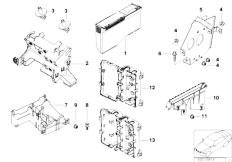 E39 520i M52 Sedan / Vehicle Electrical System/  Bracket F Body Control Units And Modules