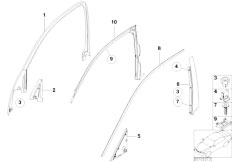 E65 730i M54 Sedan / Vehicle Trim Exterior Covers Door Front