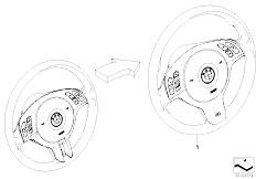 E46 318Ci N42 Cabrio / Steering Modificat Strng Whl Mfl Sport M Sport
