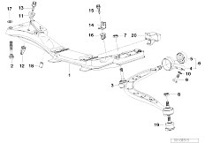 E36 316i 1.6 M43 Compact / Front Axle Front Axle Support Wishbone