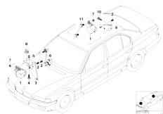 E38 750iLS M73 Sedan / Rear Axle Headlight Vertical Aim Control Sensor-2