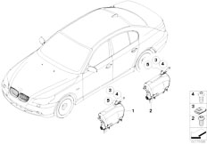 E63 645Ci N62 Coupe / Restraint System And Accessories Side Airbag