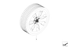 E92 323i N52N Coupe / Wheels Winter Complete Wheel Double Spoke 158