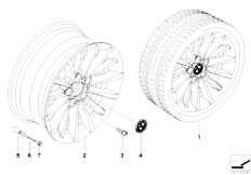 E92 323i N52N Coupe / Wheels Bmw La Wheel Multi Spoke 284