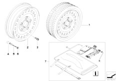 E87N 130i N52N 5 doors / Wheels Set Emergency Wheel With Tyre