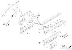 E90N 320i N43 Sedan / Bodywork Wheelhouse Engine Support