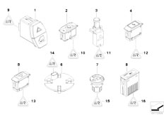 E83N X3 2.0d M47N2 SAV / Vehicle Electrical System/  Various Switches