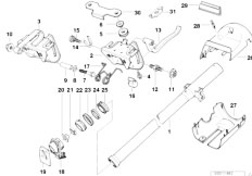 original parts for e36 318tds m41 touring    steering