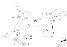 E39 528i M52 Sedan / Exhaust System/  Exhaust System Rear-2